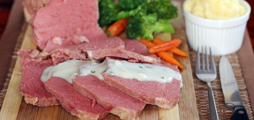 Corned Beef with White Onion Sauce 2