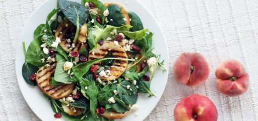 Grilled Peach Salad Wide