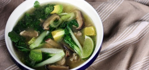 Chicken and Vegetable Miso Soup Wide