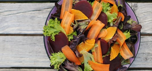 Orange, Carrots and Beet Salad Wide