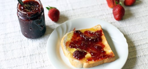 Three Ingredient Stawberry Jam Wide