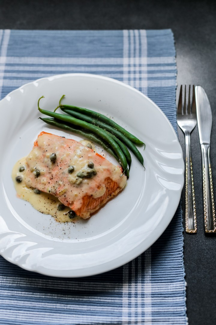 Salmon with lemon butter caper sauce ang sarap for Lemon butter caper sauce for fish