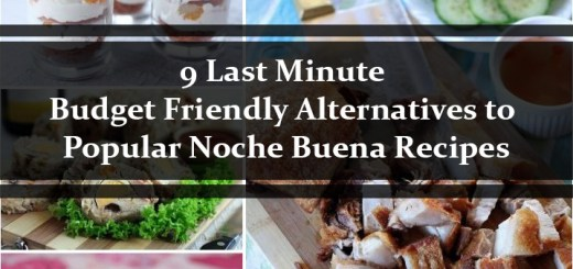 9 Last Minute Budget Friendly Noche Buena