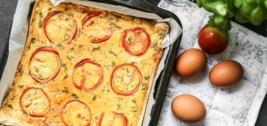 Tomato, Basil, Ham Quiche 1
