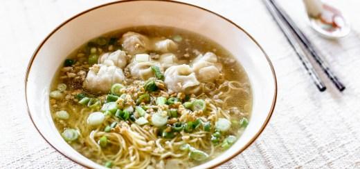 Wonton Noodle Soup Wide
