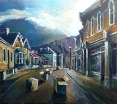 Hampden Road Hobart (55w x 51h cm) - $1400
