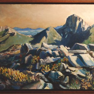 Frenchmans cap from Sharlands Peak (92w x 41h cm) - $1800