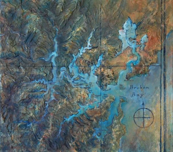 Hawkesbury River (65w x 60h cm) - $2200