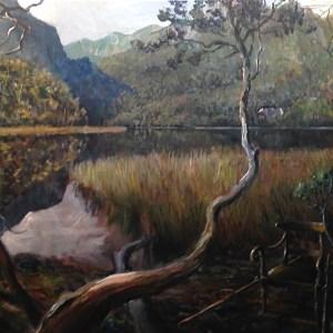 Jane Franklin's Palanquin 58 x 151 cm Acrylic on Canvas, 2017