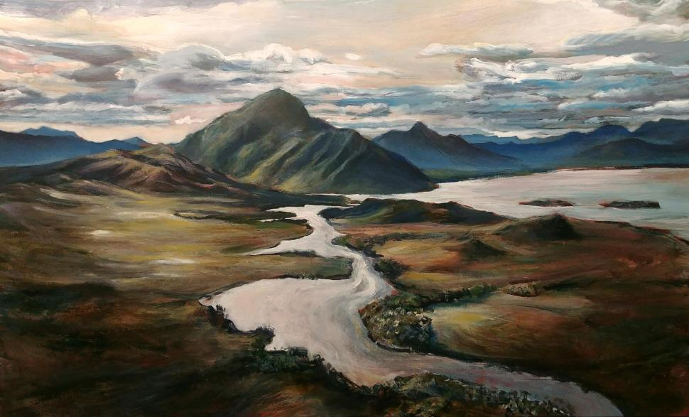 Melaleuca Inlet, Mt Rugby, 2019, acrylic on canvas, 122 x 74cm