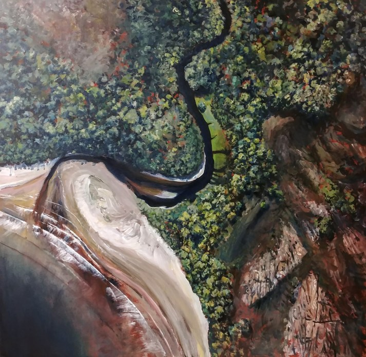 New Falls Creek, 2019, acrylic on canvas, 104 x 100cm