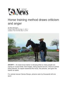Horse Abuse Waterboard Investigation