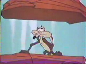 The Roadrunner never did time, either, for his atrocities done to Wiley Coyote, drawn by Chuck Jones for Warner Brothers, beginning in 1948.