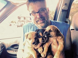 Longtime Humane Society of the U.S. regional representative Dave Pauli has participated in many puppy mill rescues. (Facebook photo)