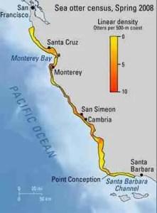 California sea otter range.