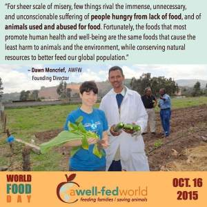 A Well-Fed World founder Dawn Moncrief, with project participants. (AWFW photo)