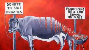 """""""RSPCA: Hypocrisy is our mission,"""" by Jo Fredriks. (See """"Did Holocaust comparison cost vegan her RSPCA ruling council seat?"""")"""