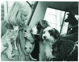 Elisabeth (Babette) Lewyt & dogs.