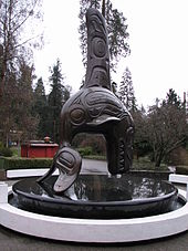 Statue of Moby Doll outside the Vancouver Aquarium.