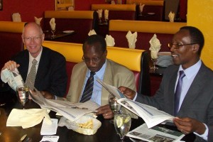 David Gies, former Kenya Wildlife Service and East African Wildlife Society chief executive Nehemiah Rotich, and African Network for Animal Welfare founder Josphat Ngonyo. (MC)