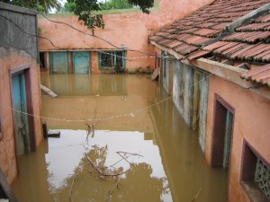 Flooded Indian homes