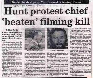 Hunt sab trial