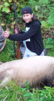 One of Jaylen Ray Fryberg's early hunting photos.  (Facebook)