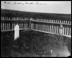 Sitting Bull's grave at Fort Yates.