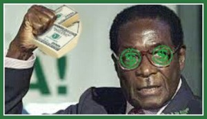Robert Mugabe, ruling Zimbabwe since 1980. Judge Royce Lamberth expressed skepticism of Zimbabwean wildlife conservation under the Mugabe regime. (Beth Clifton collage)