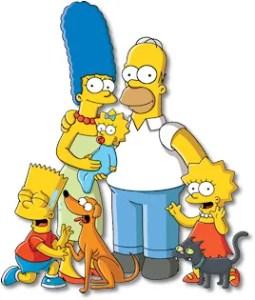 The Simpson family.