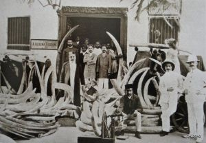 Ivory traders in East Africa (now the nations of Kenya and Tanzania), 1900.