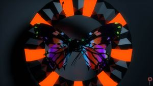 Animated Visions Production | neon butterfly