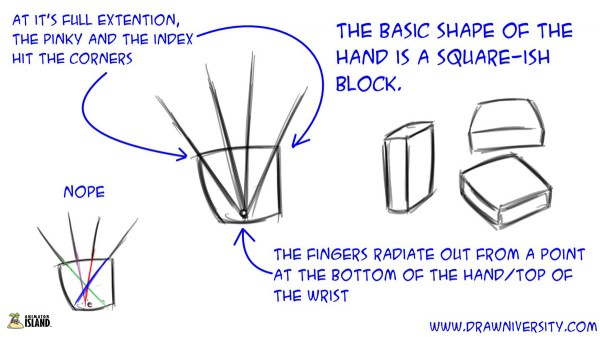 how to draw hands book