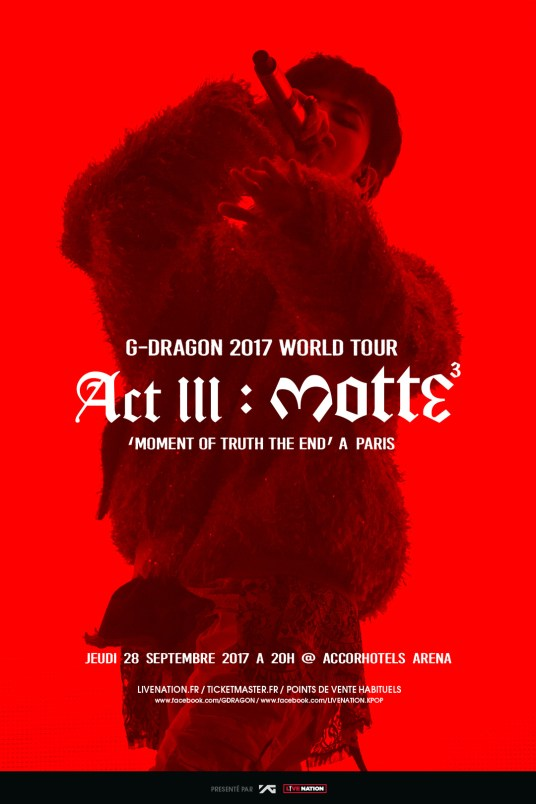 G DRAGON - ACCORHOTELS ARENA, 28 septembre 2017 NEW