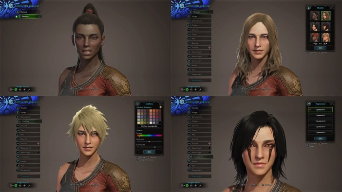 Monster Hunter: World - création de personnages