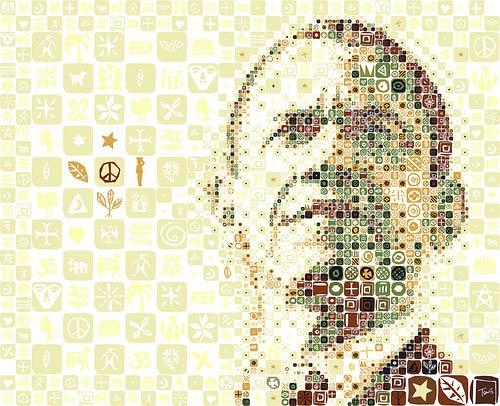 mosaic portrait-President Barack Obama