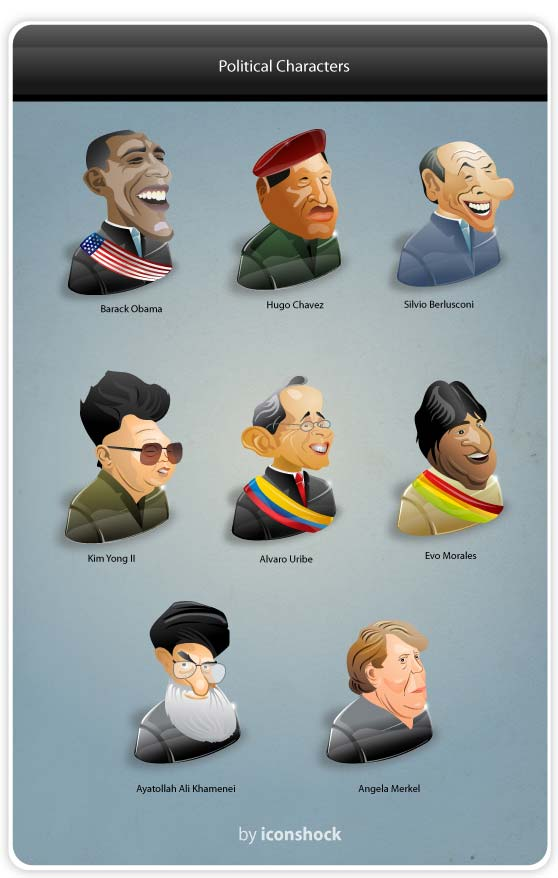 controversial political characters caricature