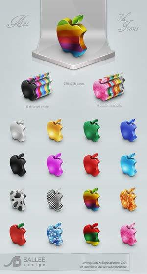 colurful mac icon set