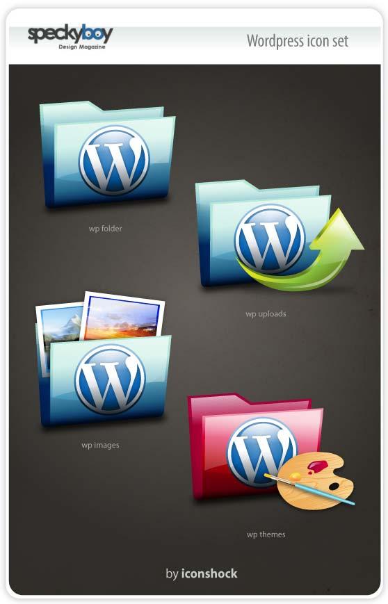 icon set for wordpress folder style
