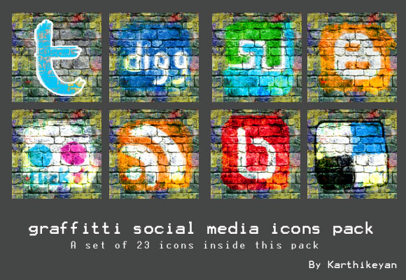 GRAFFITTI SOCIAL MEDIA ICON PACK