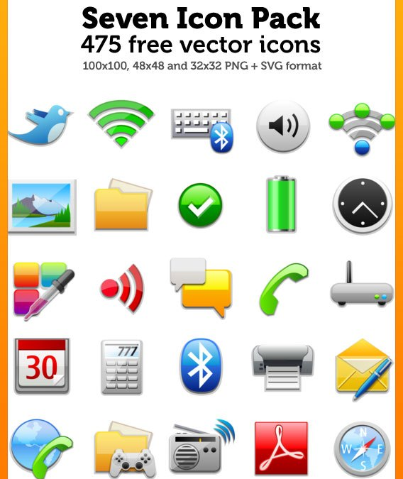 Download 475 Premium Quality Icons for Designers