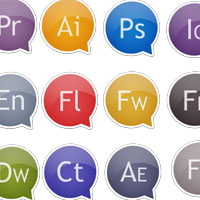 Freebies: 2012 Adobe Master Collection Original Sticker Icons