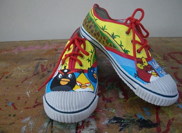 Colorful Painted Desi Canvas Shoes
