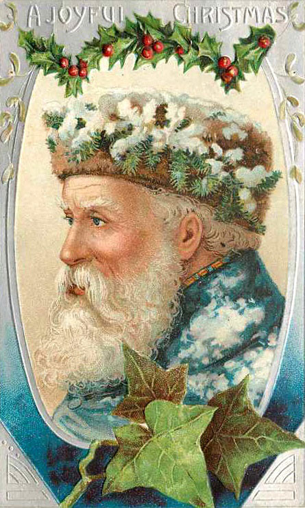Antique Christmas Santa Postcards  and Vintage Illustrations (19)