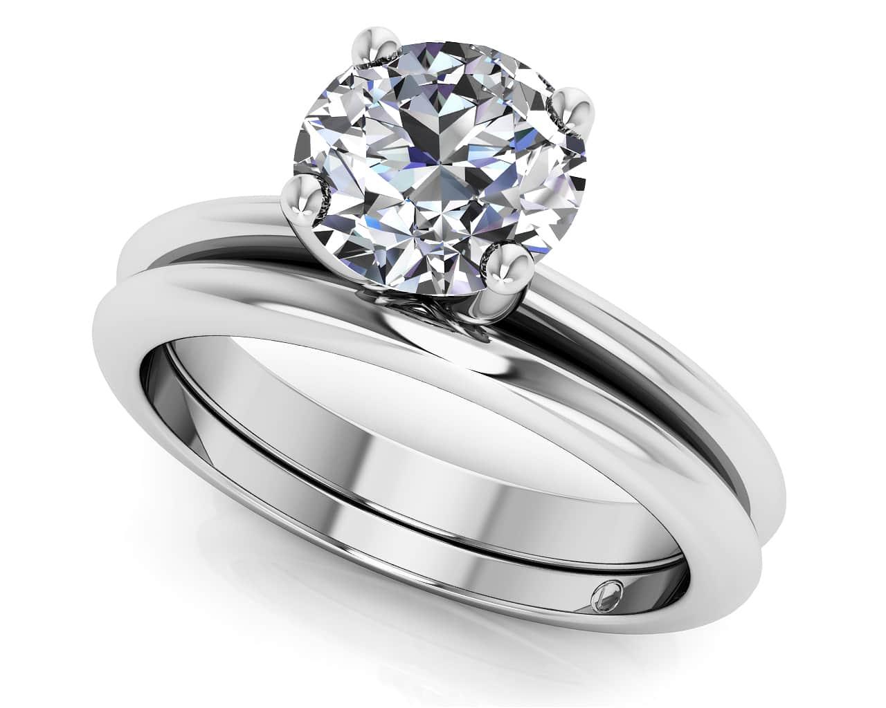 matching wedding engagement diamond rings sets wedding set