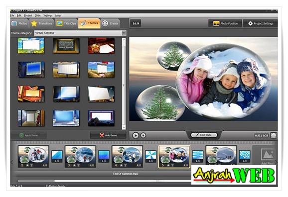 cara membuat video dari foto di pc slideshow