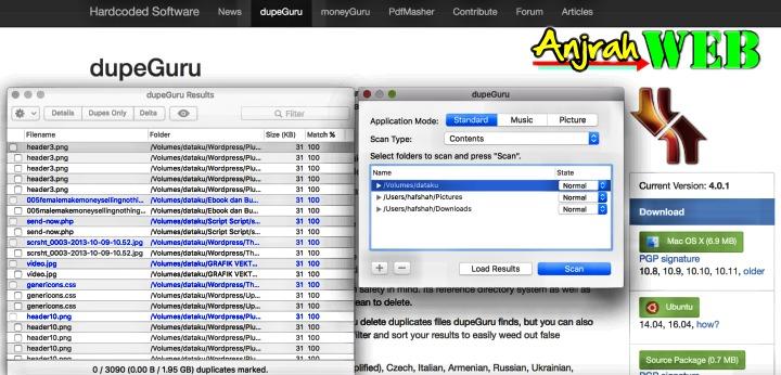 software untuk mencari file yang duplikat dalam hardisk macbook kita