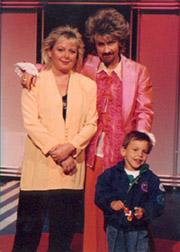Jag, som Gerry Persson tillsammans med Kicki Danielsson och min son Totte