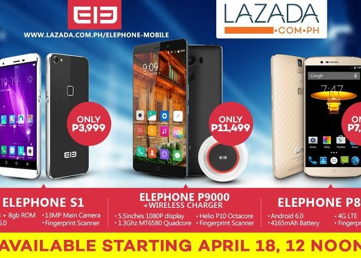 elephone sold at Lazada