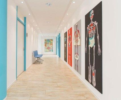 Knochen_in_der_Orthopädie_Ausstellung_Anna_Szermanski_Die_Familie_Orthopädie_Praxis_Dr._Bloch_Düsseldorf_Skelette_Farben_Polen_Folklore8